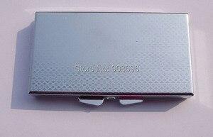 Image 5 - Venta al por mayor 100 piezas en blanco rectángulo píldora cajas de Metal píldora contenedor 7 redes Mini de viaje portátil caso. DHL envío gratis