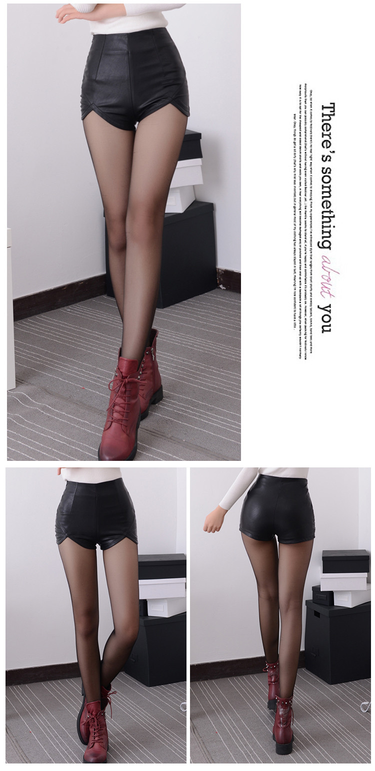 Black Red High Waist Vintage Shorts