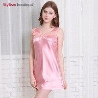 Новые шелковые Кружево Для женщин пижамы дамы сексуальное женское белье Sleepdress Ночная сорочка ночная рубашка трусы домашняя одежда
