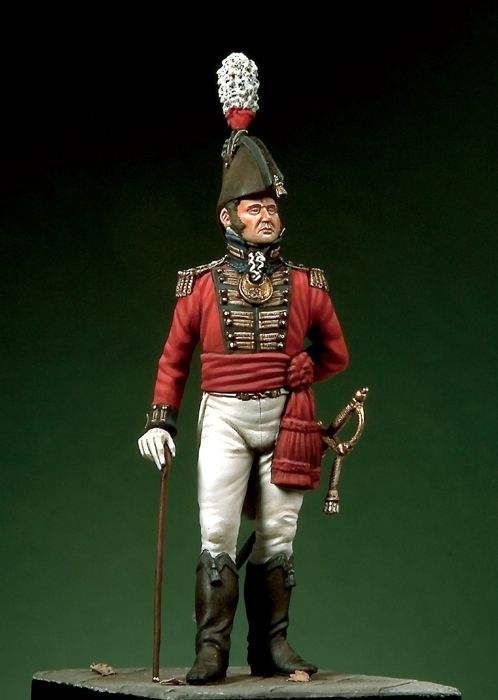 Scale Models 1/32 54mm Royal Marines Lieutenant, C. 1805 54mm   Figure Historical  Resin Model