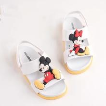 Mini Melissa Beach Sandal Mickey Minnie Girl Sandals 2019 Jelly Kids Children Shoes Non-slip Toddler