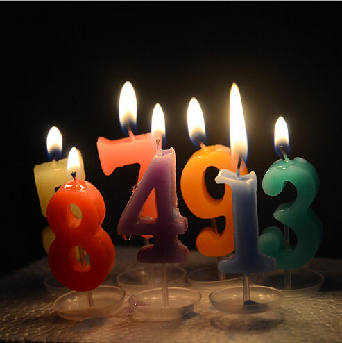Special Offer Wholesale Crystal Digital Candles Romantic Creative Process Active Party Birthday Tray