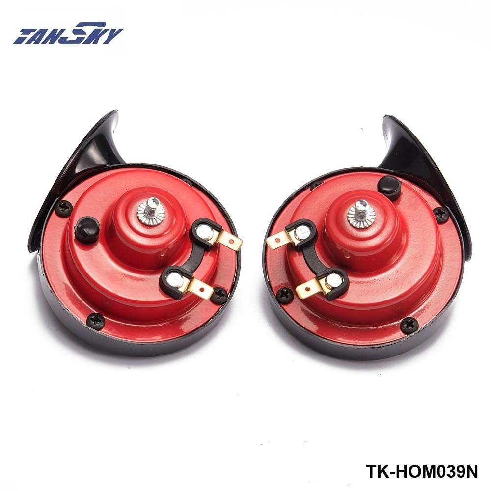 1 Pair 12v 110dB 510Hz Auto Truck Dual Snail Horn High low Car Motor Vehicle For Ford Focus 98-12 TK-HOM039N suv 2pcs pair 1 treble 1 bass waterproof super loud snail horn speeker 12v car 510hz 115db alarm sound
