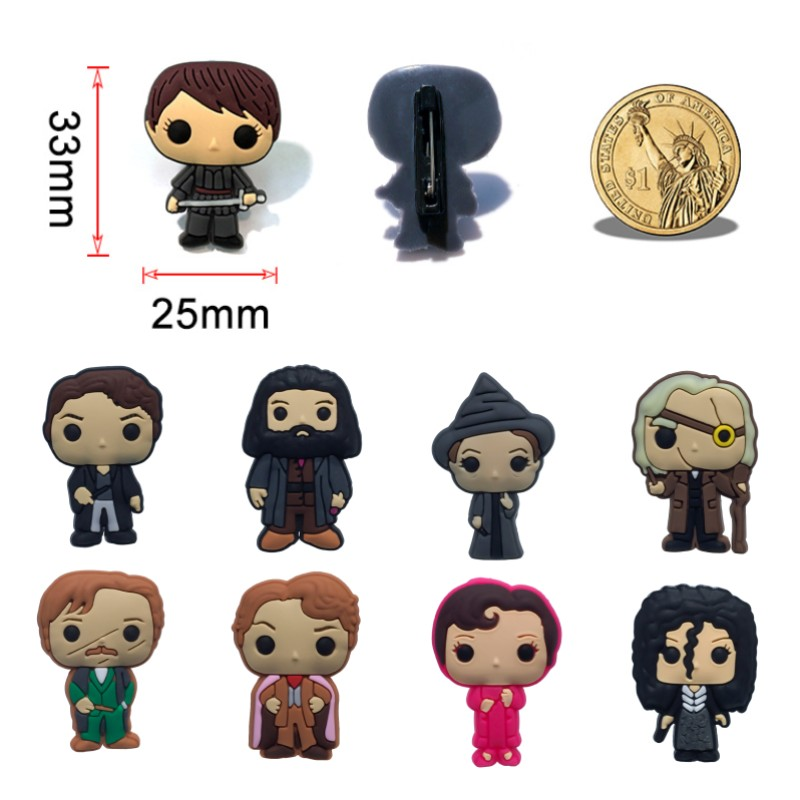 1pcs Creative Pins Hot Movie Figure PVC Brooches DIY Pins Button Badges Bag Jacket Clothes Hat Accessory Kid Birthday Gifts