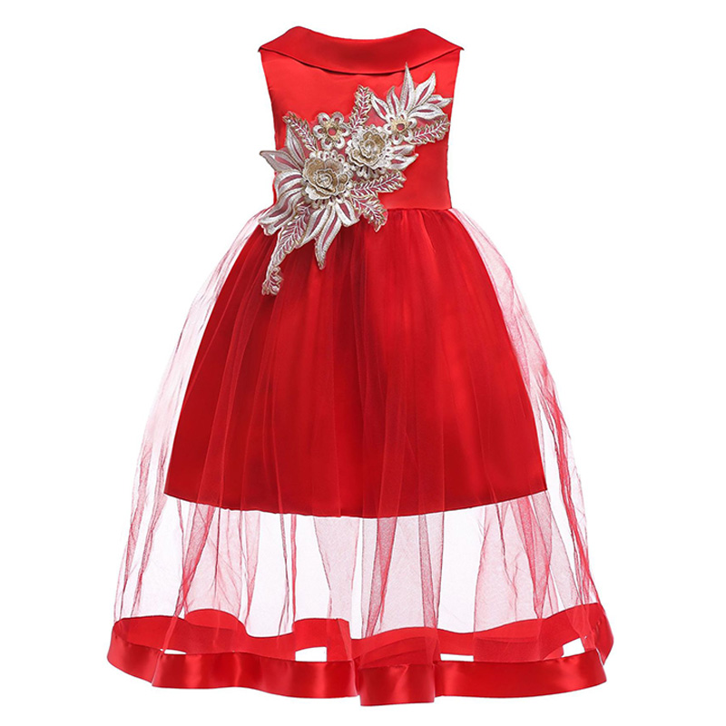 Girls Dress Summer girl floral Princess party Dresses Children clothing Wedding tutu baby girl Clothes 2 3 4 5 6 7 8 9 10 Years summer baby girl tulle dress children clothing girl 7 years party girls dresses kids clothes princess tutu dress casual outfits