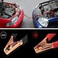 KROAK 2 м 500 ампер медный провод автомобильный аккумулятор линия Аварийный Кабель кабель зажим для зарядки питания пусковые провода черный кра...