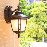 HAWBERRY LED outdoor waterproof large simple European home garden balcony retro wall lamp door wall stairwell corridor light