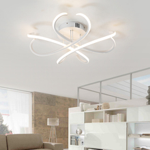 Rectangle Bedroom Living Room Modern Led Ceiling Lights White Color Square Rings Study Room Ceiling Lamp Fixtures AC85-265V недорого