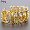 Arab Bracelet for Women Gold Plated Wide Bracelet Middle East Bangle Jewelry Dubai/India/Egypt/Turkey/Iraq/Iran/Syria/Africa