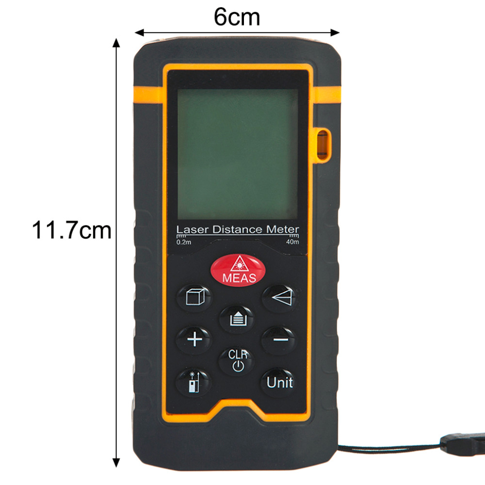 Handheld Laser Rangefinder Laser Distance Meter Digital Laser Range Finder Laser Tape Measure Area/Volume Tester Tool HT-40