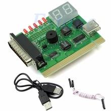 1PC USB PCI PC Analizzatore di Diagnostica Della Scheda Madre Del Taccuino Del Computer Portatile DELLA Carta di Trasporto di Goccia