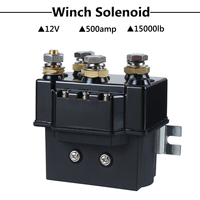 12V DC 500Amp Heavy Winch Relay Solenoid Controller 1500lb 4x4 ATV Boat Truck Recovery