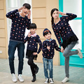 2017 sweater mommy and me clothes	fashion cotton mother daughter matching clothes full sleeve	floral	5353