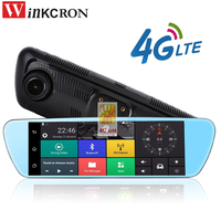 8 Special 4G Mirror Rearview Car DVR Camera DVRs Android 5.0 With GPS Navigation Automoblie Video Recorder Dash Cam