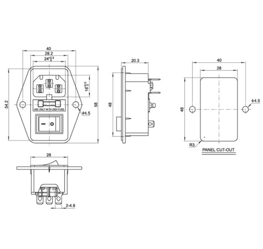 High quality 10A 250V Inlet Module Plug Fuse Switch Male Power Socket 3 Pin IEC320 C14 high quality 10a 250v inlet module plug fuse switch male power IEC 320 C14 Power Plug at creativeand.co