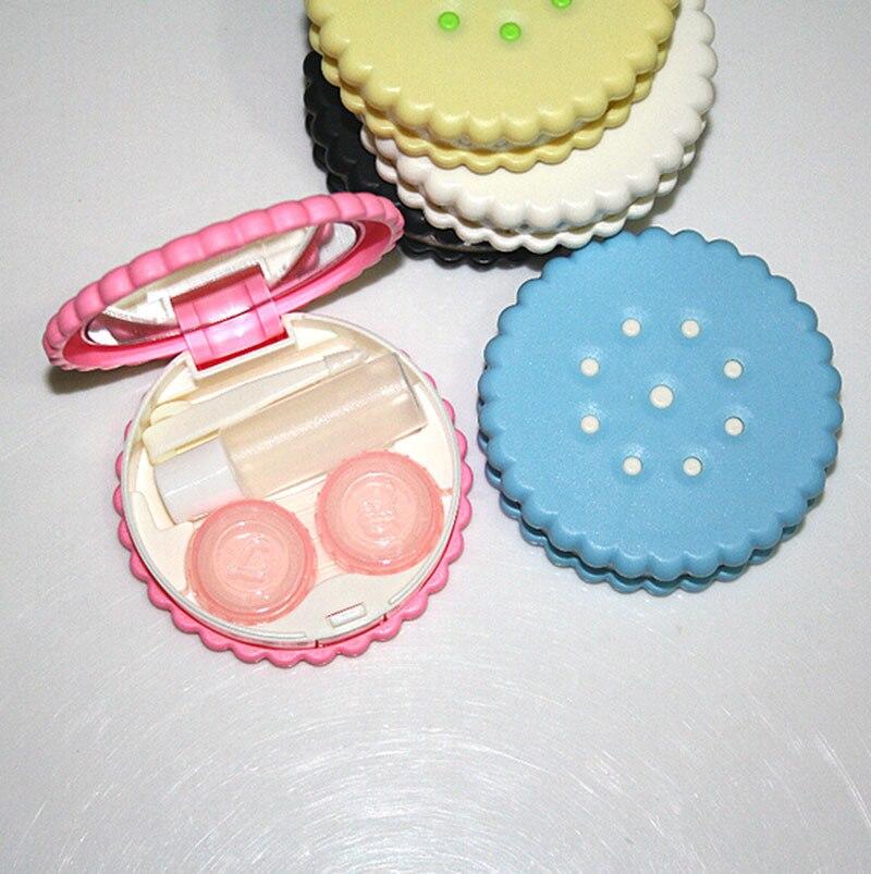 1 Stück Schöne Cartoon Tasche Mini Kontaktlinsen Fall Einfach Tragen Spiegel Container Halter Für Augen Care Travel Kit Ungleiche Leistung