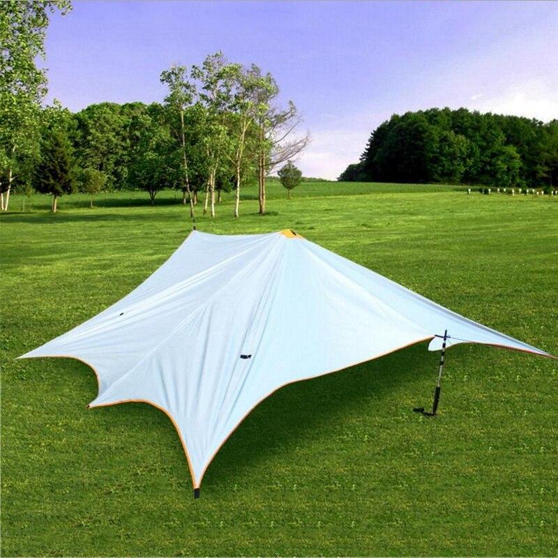 5 mètres * mètres auvent extérieur imperméable et résistant à la déchirure, 5-8 personnes auvent auvent protection solaire anti-UV tente de plage