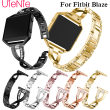 For Fitbit Blaze smart watch frontier/Classic replacement Rhinestone bracelet For Fitbit Blaze smart strap band accessories genuine leather watch band for fitbit blaze replacement band meatal frame house wrsit band for fitbit blaze smart watch strap