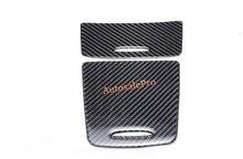 Decoración de la Fibra de Carbono de La Consola Centro de Engranajes Caja De Almacenamiento Cenicero de Cubierta del Marco ajuste Para Mercedes Benz A Class W176 2012 2013 2014 2015