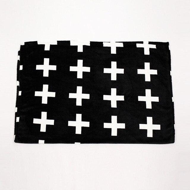 Бесплатная Доставка Крест Одеяло Фланель одеяло детское белый детские бросить одеяло Детское одеяло Оптовая Торговля, 90x120 см