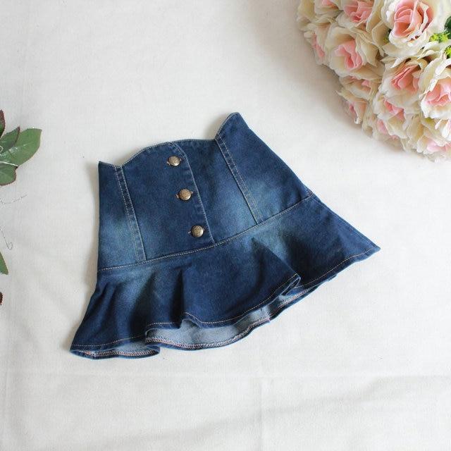 ec2cdec127bb Fashion Skirts 2015 Baby Girls Denim Wash Blue Skirt Kids Girl Fall ...