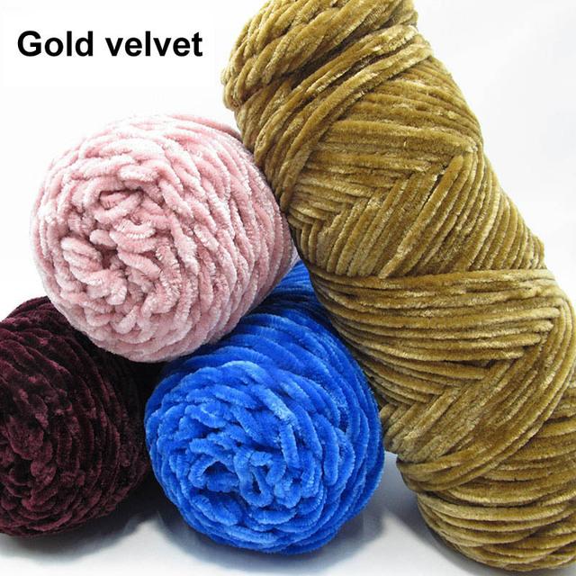 Velvet Crochet and Knitting Yarn