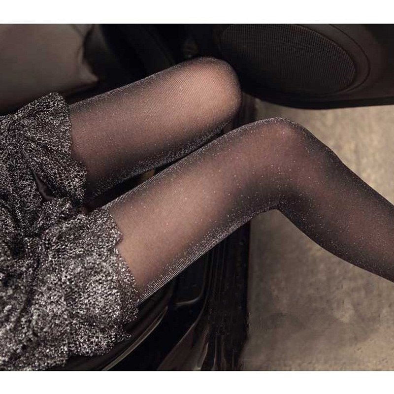 Buy Sexy Charming Shiny Pantyhose Glitter Stockings Womens Glossy Thin Tights Stockings Sexy Pantyhose Shiny Tights Female Stocking