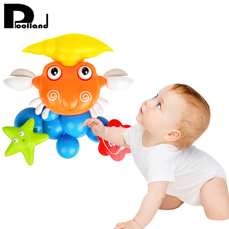 Baby Water Game Bath Toy Cute Crab Rotating Starfish Summer Windmill Water Spraying Shower Spray Bathing Toys For Children P20