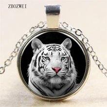 580d464a98b5 3 color tigre blanco cabeza colgante de cristal collares retro regalos para  las mujeres a usar ropa para hombres