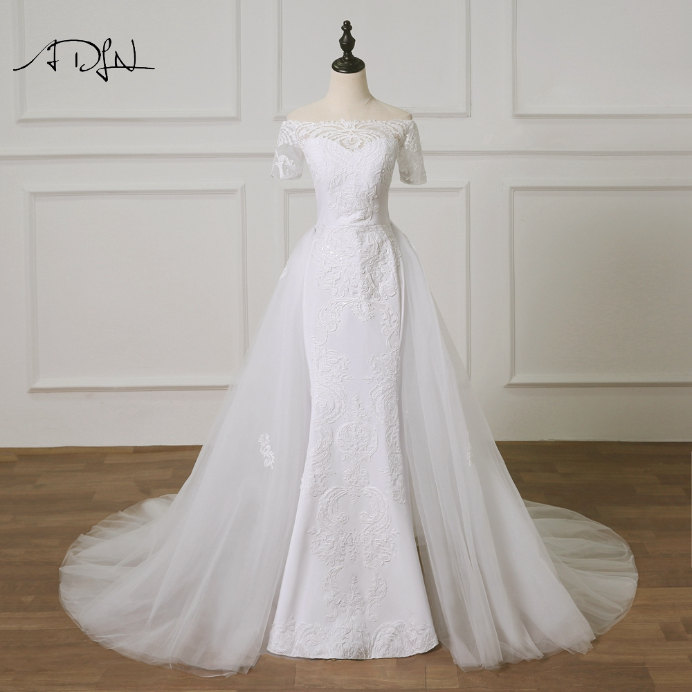 Removable Wedding Gown Dress: Aliexpress.com : Buy ADLN Charming Mermaid Wedding Dresses