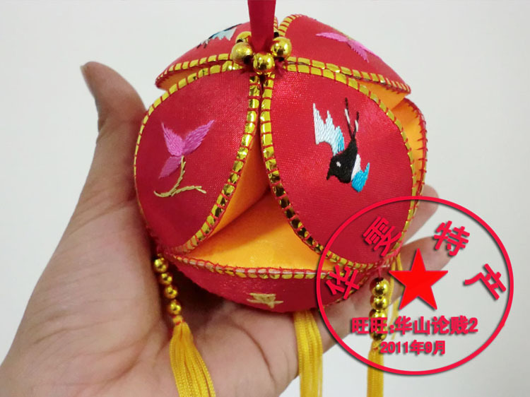 10cm Sew Supplies Hanging Wedding Home Party Decoration Chinese Silk Ball Embroidered Ball Xiuqiu Items Gift