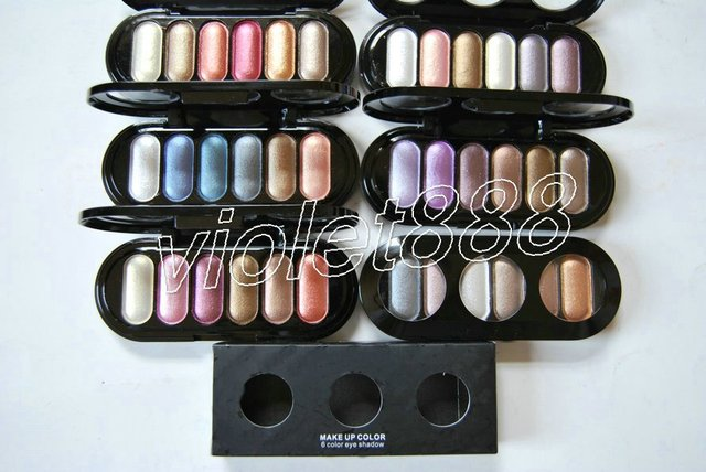 New Makeup 6 Color Eye Shadow / Colors Eyeshaodw Palette 24g (50pcs/lot)+free gift