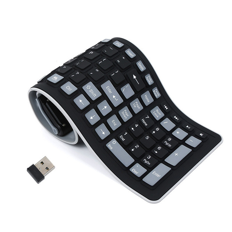 Portable USB Silicone Keyboard For Laptop PC Flexible Waterproof Foldable  Keyboard Wireless Soft Keys Mini Cover Notebook|Keyboards| - AliExpress