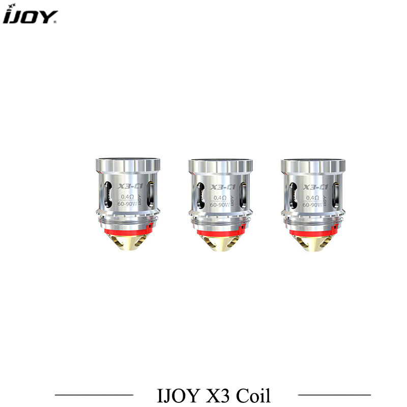 3pcs/lot Original Ijoy X3 Coil X3 series Head Cores X3-C1/C2/C3/C1S/Mesh For Diamond Sub ohm Avenger Sub ohm Captain X3 Tank sub tank