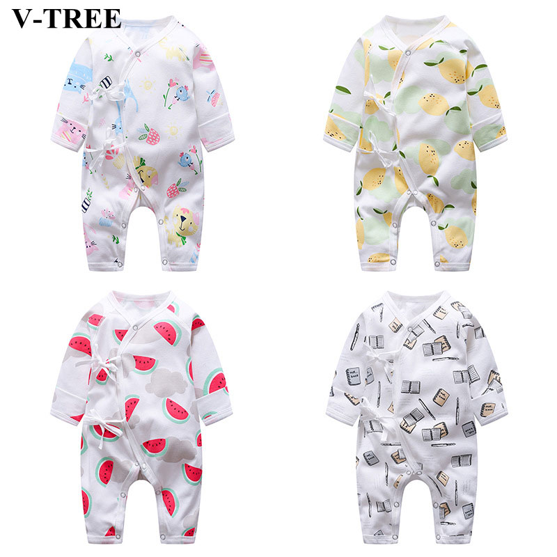 Newborn Clothes   Romper   Cartoon   Romper   For Babies Long Sleeve Kids Jumpsuit New Baby Pyjama Boys Girls Clothing