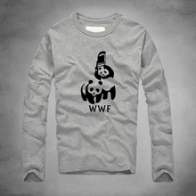 2016 new WWF Wrestling Panda Comedy printed long Sleeve Cool T Shirt Homme Camiseta tshirt Unisex 100% Cotton Casual t shirt