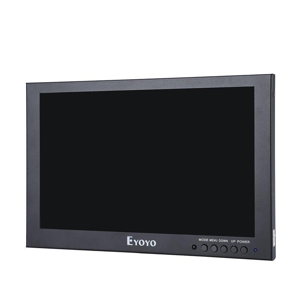 Eyoyo 10 Full 1920x1200 IPS Touch Screen LED Monitor With HD/VGA/AV Video Input For PC Laptop DVR DVD Camera 450cd/m2 Black