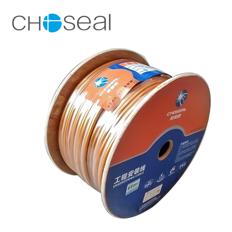 Choseal QS6283 HI-FI Loud Speaker Cable Oxygen-Free Copper Engineering Cable Wire Audio Cable 2*350 Core+5 Center Wire hi fi ofc 12awg audio transmission speaker connection red white cable 80m