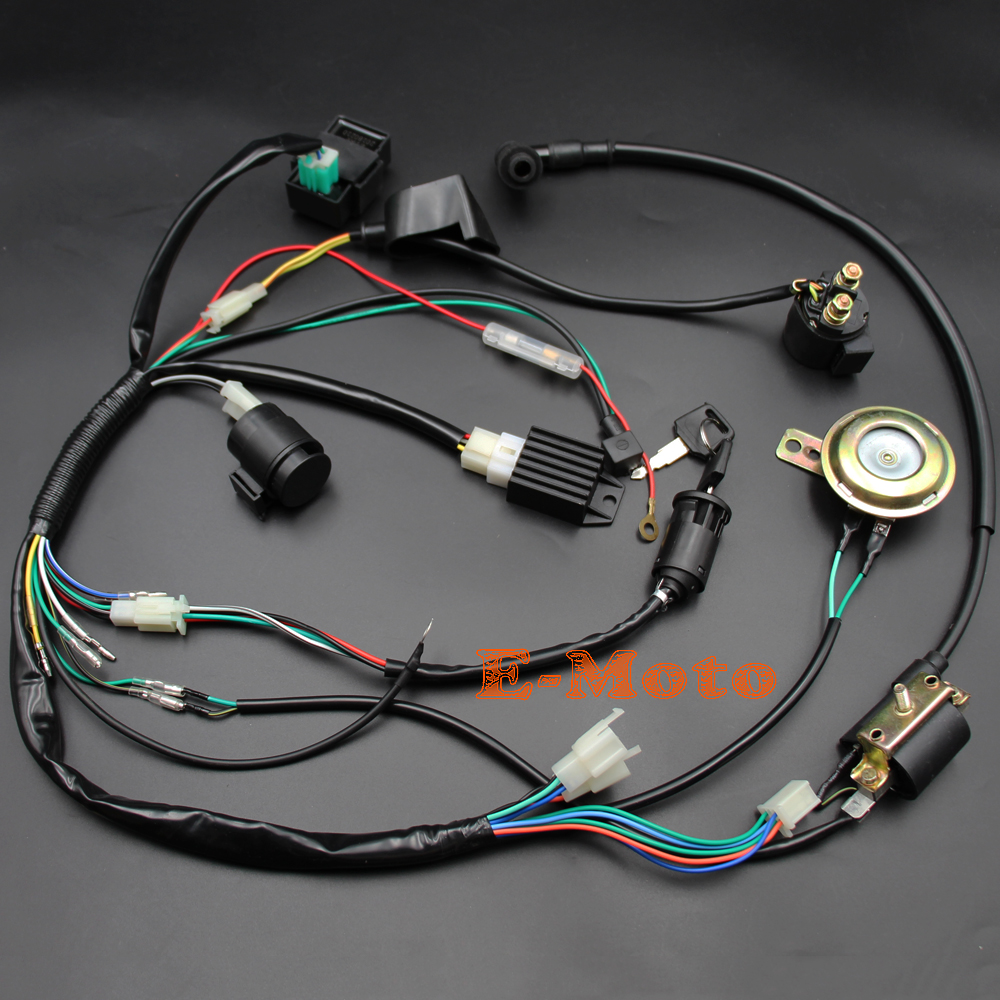 US $35.71 18% OFF|Full Kick Start Engine Wiring Harness Loom + Light on suspension harness, dodge sprinter engine harness, engine harmonic balancer, oem engine wire harness, engine control module, hoist harness, bmw 2 8 engine wire harness,