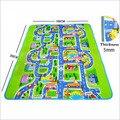 Vías urbanas maboshi carpet carpet carpet para niños, juguetes de los niños rompecabezas juego de las plantillas para el bebé