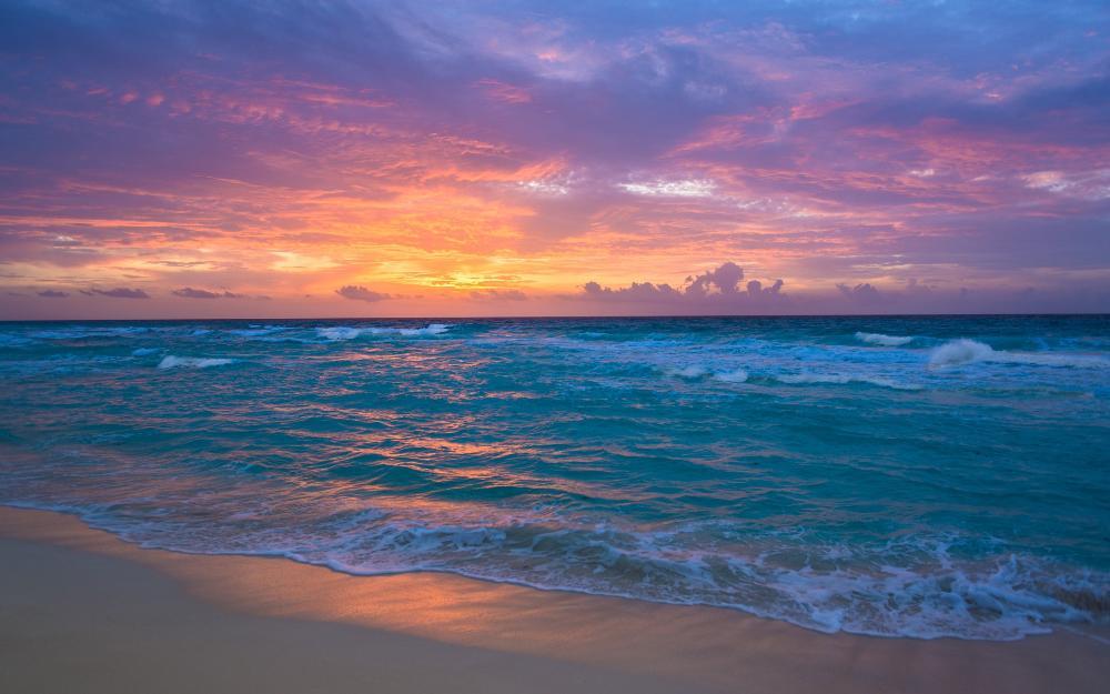 Resultado de imagem para imagens do amanhecer no mar