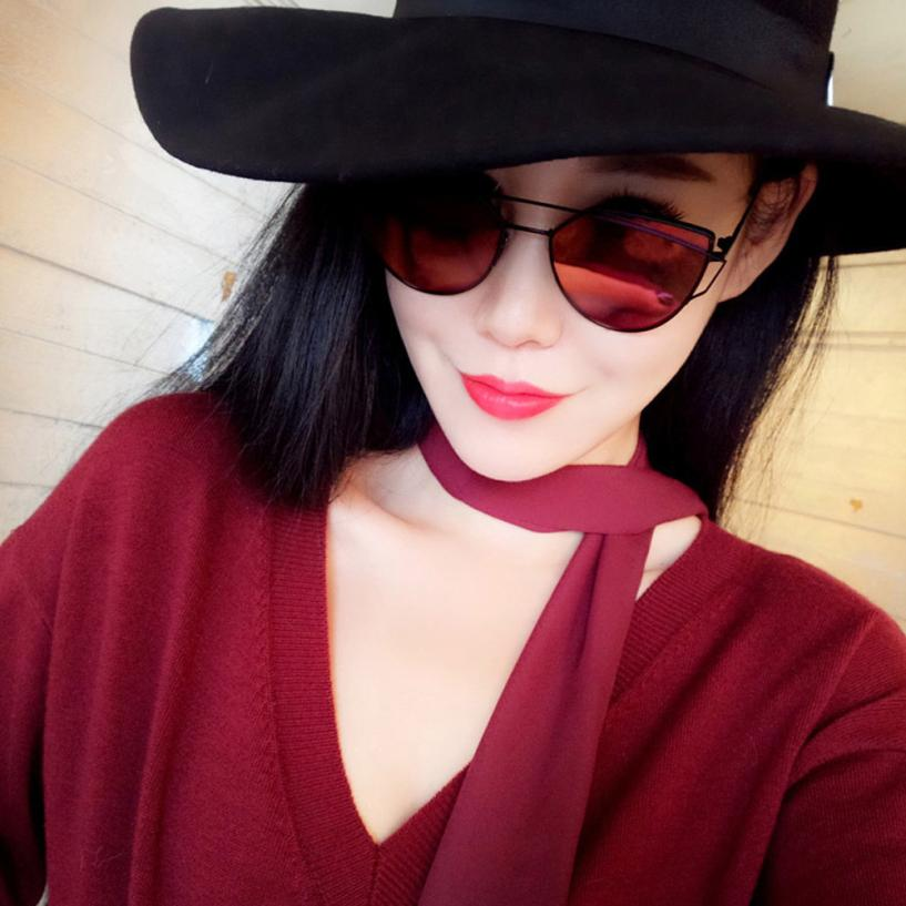 Óculos de sol das mulheres 2018 Moda verão Twin-Vigas Clássico Óculos de  Metal Moldura c05193cf28