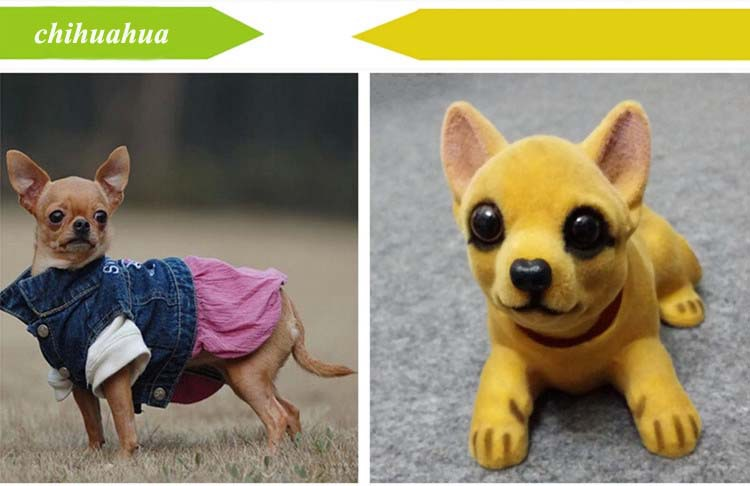 Livraison gratuite mignon chien poupée voiture hochant la tête - Accessoires intérieurs de voiture - Photo 3