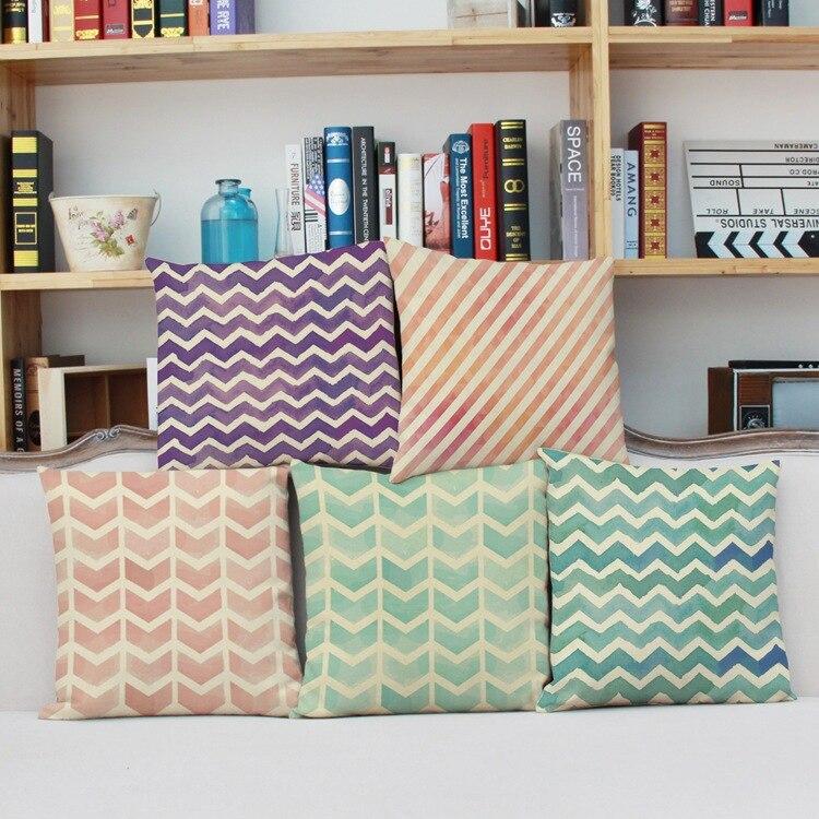 Aliexpress Com Buy 2016 Top Finel Modern Striped Faux: Top Finel 2016 Nordic Decorative Cushion Covers Cotton