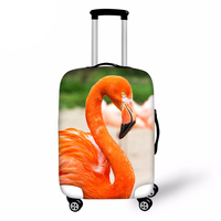 Flamingo Print Luggage Protective Cover For 18 28 inch Trolley Suitcase Elastic Dust Bags Case Travel Accessories