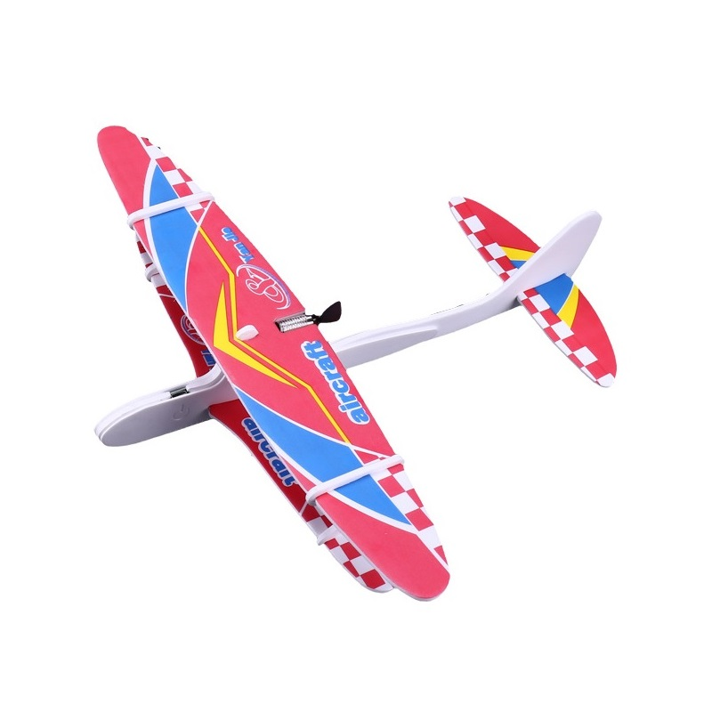 Hand Launch Throwing Glider Electric <font><b>Aircrafts</b></font> 10 Minites time DIY Foam EVA Plane <font><b>Model</b></font> Outdoor Educational Toys Kids Airplanes image