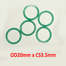 OD20mm x CS3.5mm green viton rubber seal o-ring gasket