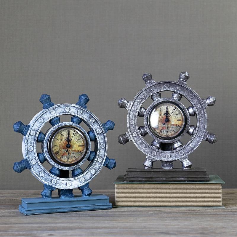 European retro nostalgic clock rudder living room shop office creative decoration ornaments American