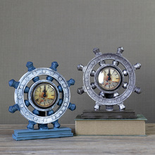 European retro nostalgic clock rudder living room shop office creative decoration ornaments American