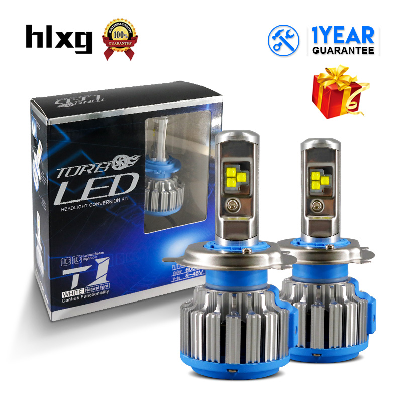 HLXG 35W 7000LM/Set H8 H7 H4 Led 12V H11 9005 9006 HB4 Car Headlight Bulb With Canbus Automobile Headlamp Fog light Car Light h7 car led headlight bulb 100w 20000lm cob chip led auto headlight canbus headlamp automobile led head fog light 12v 24v 6000k